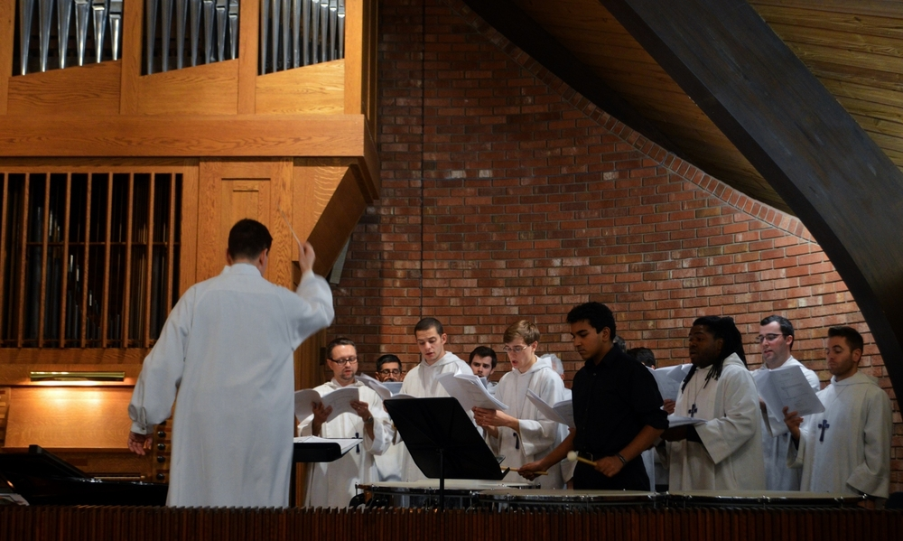 Members of St. Timothy's Men's Choir at a recent service