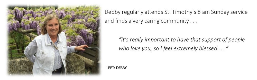 Listen to Debby's story  here.