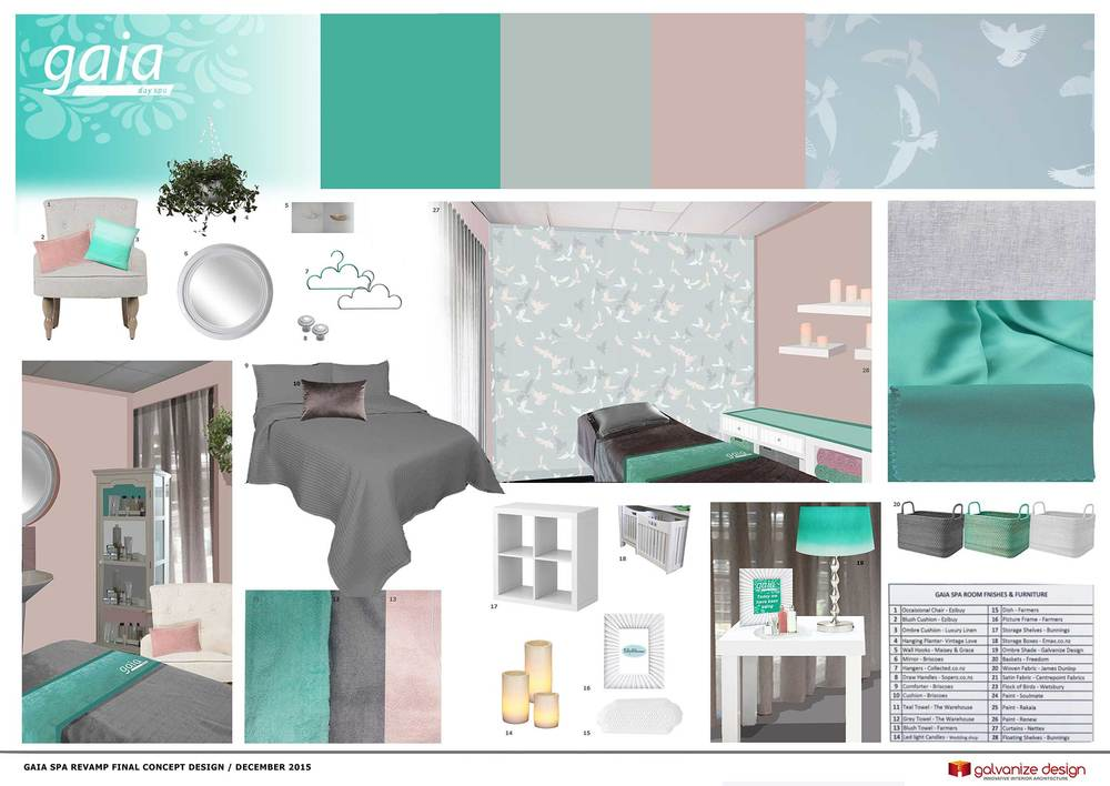 Beauty Spa Concept Board For Retail Space