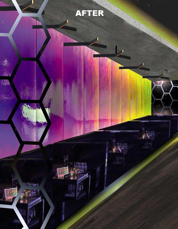 A Diachroic Feature Wall - Club Space