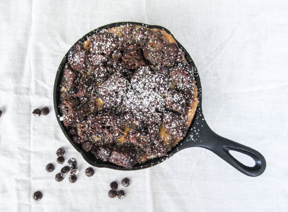 Chocolate Bread Pudding-16