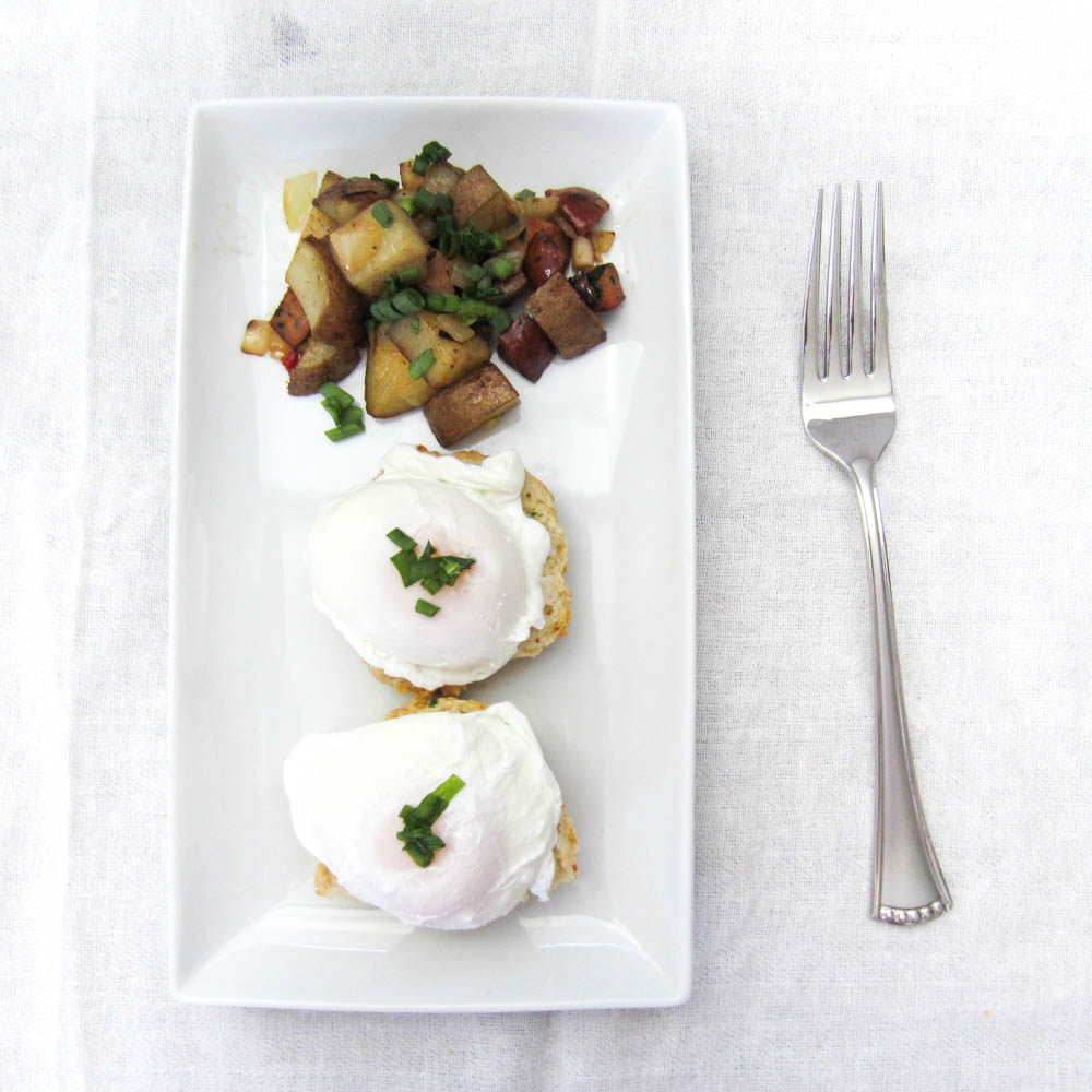 Feta Scallion Drop Biscuits — bacon + egg + cheesecake