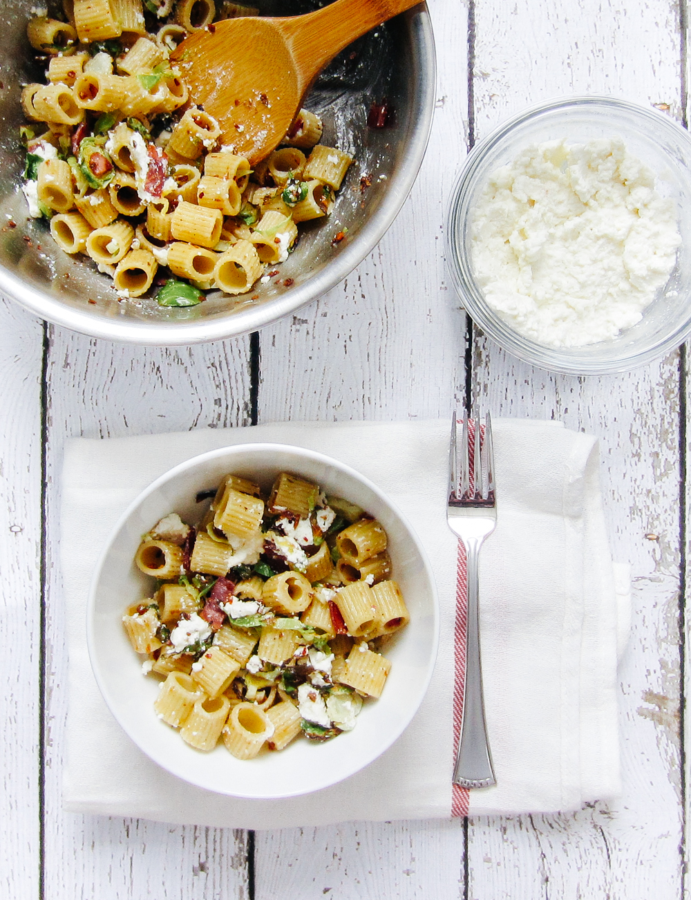 Brown Butter Pasta Salad with Brussel Sprouts and Ricotta — bacon ...