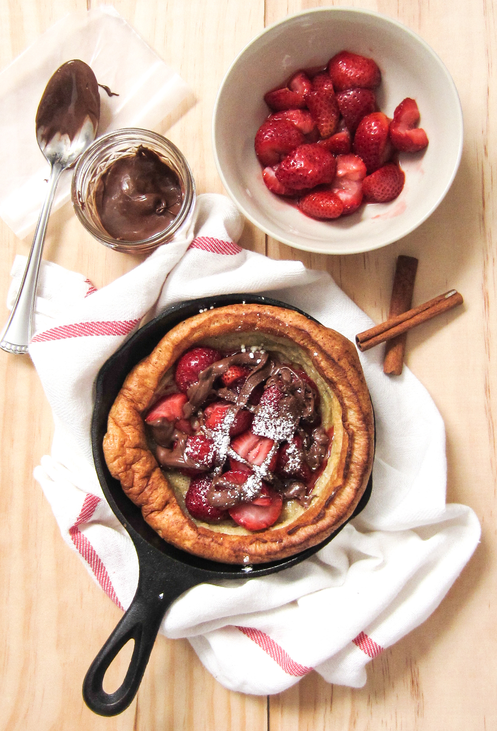 Dutch Baby With Apple & Cranberry Compote Recipes — Dishmaps