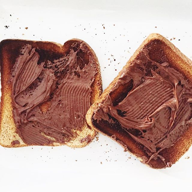 Rediscovering nutella toast