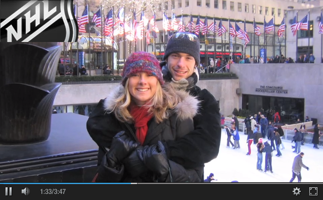 VIDEO  Watch the NHL video about Katie & Dom's story.
