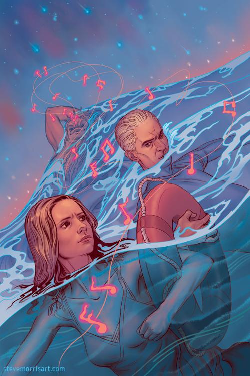 Buffy the Vampire Slayer comic cover art season 10 issue 24 by Steve Morris.