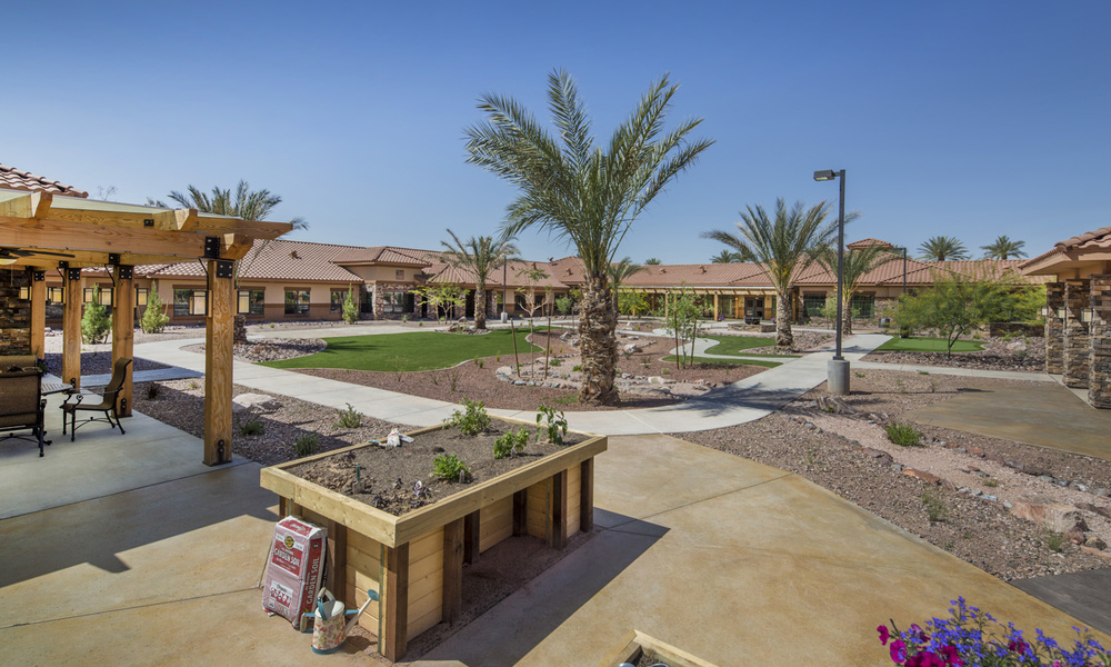 Pi Architects Peoria Memory Care Courtyard view.jpg