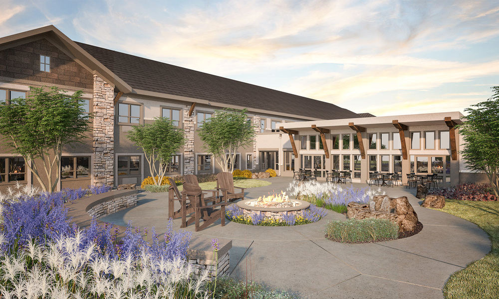 The Peaks at Old Laramie Trail Render of Courtyard