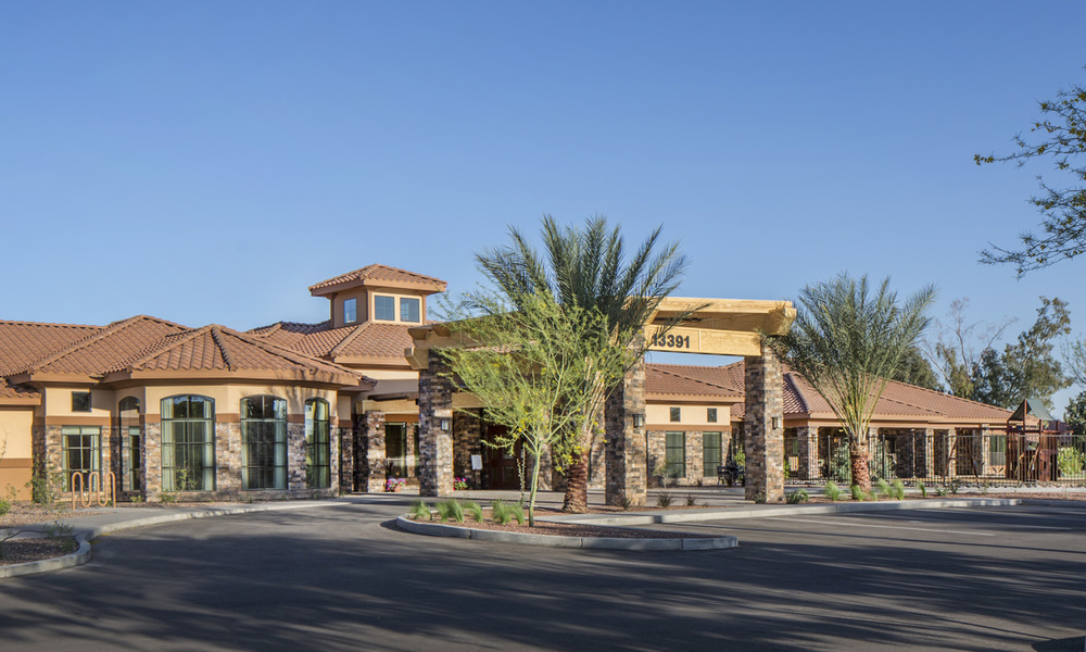 Pi Architects Silverado Peoria Memory Care entry view.jpg
