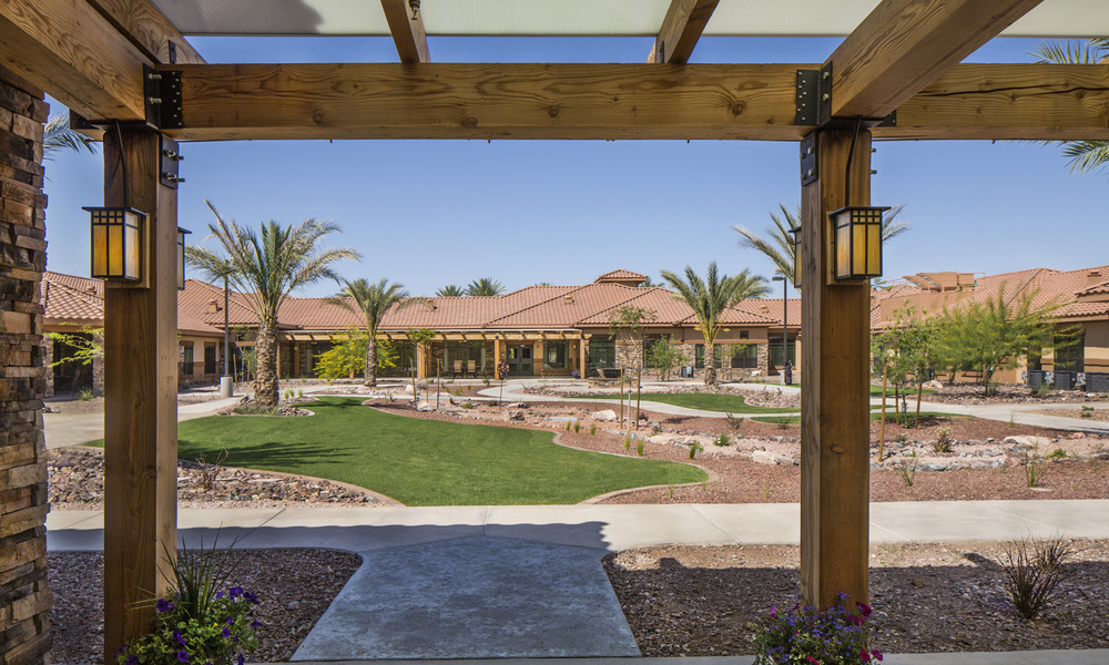 Pi Architects Silverado Peoria Memory Care Courtyard entry.jpg