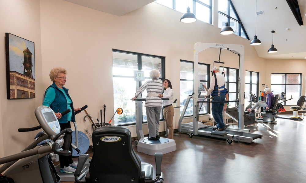Baptist Community Center The Arbors  Residents Working out