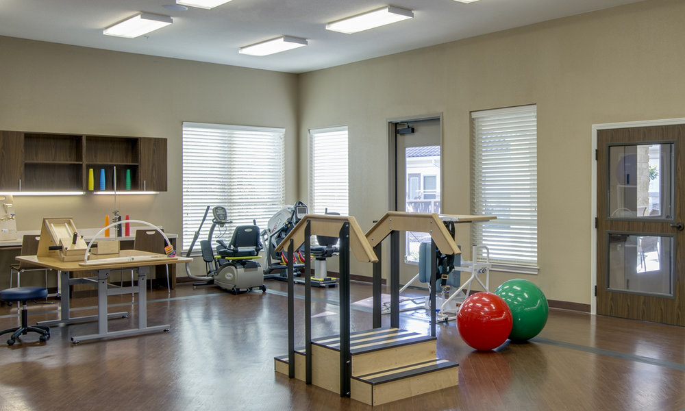 Pi Architects Skilled Nursing The Medical Resort at Willowbrook Rehab Gym.jpg