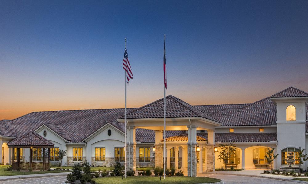 Pi Architects The Medical Resort at Willowbrook Skilled Nursing Front Entry.jpg