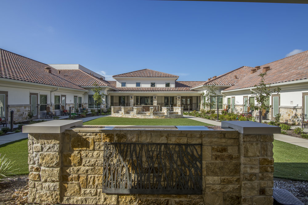 Pi Architects Skilled Nursing The Medical Resort at Willowbrook front of Courtyard.jpg