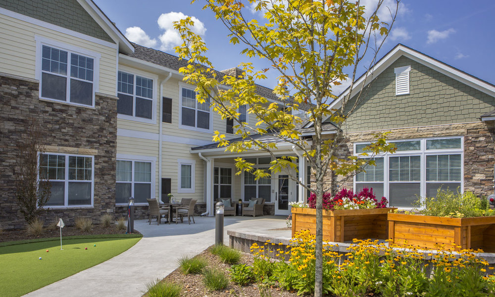Stonecrest of Troy Pi Architects Side Courtyard Assisted Living Memory Care.jpg