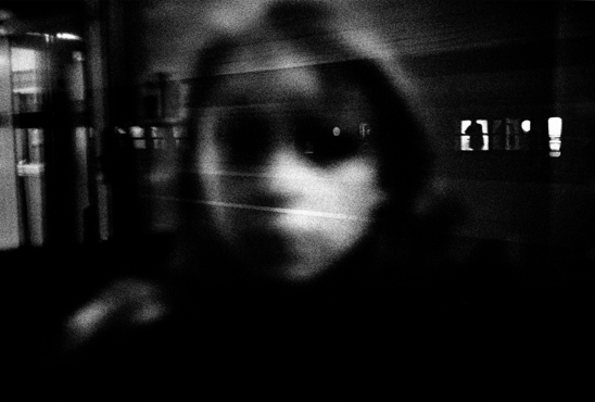 Woman on a train, Toulouse, 2001
