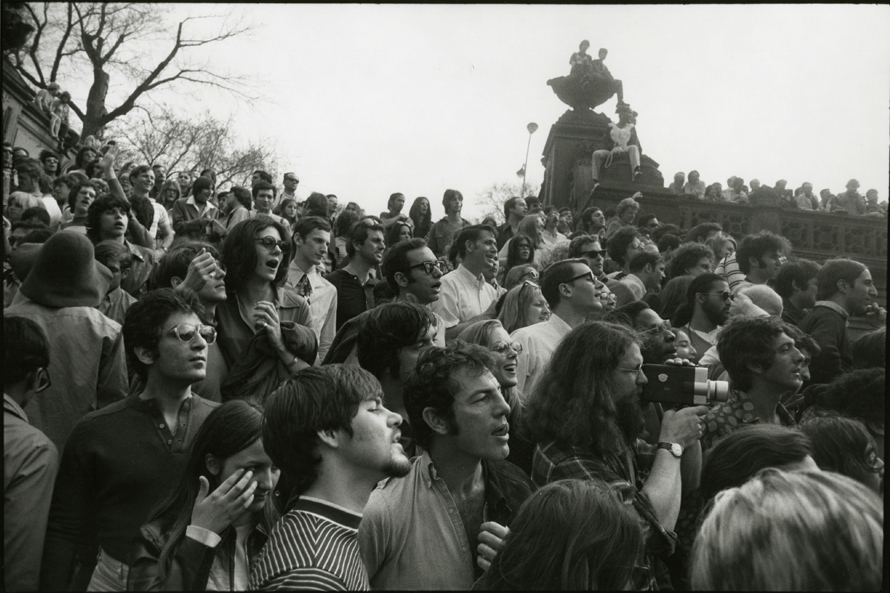 Bethesda Fountain with Crowds, 1970