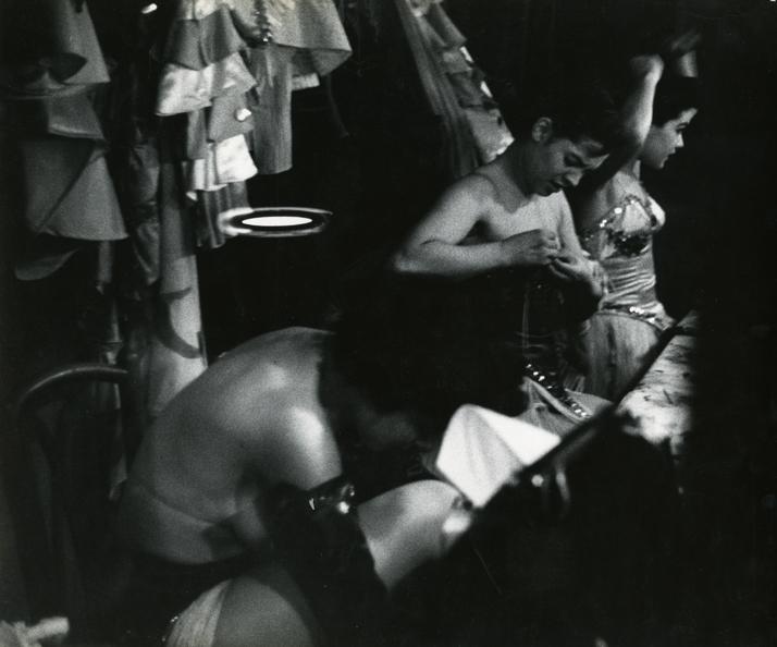 Burlesque Dancers Backstage, ca. 1958
