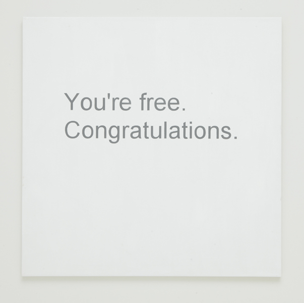 Break-up Text Painting: You're Free, 2013