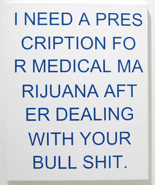Break-up Text Painting: Prescription, 2014