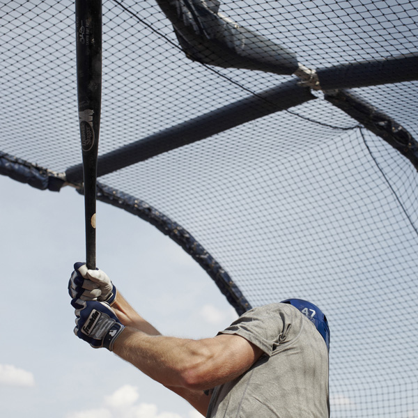Batting practice (Shelley Duncan), Durham, NC, 2013