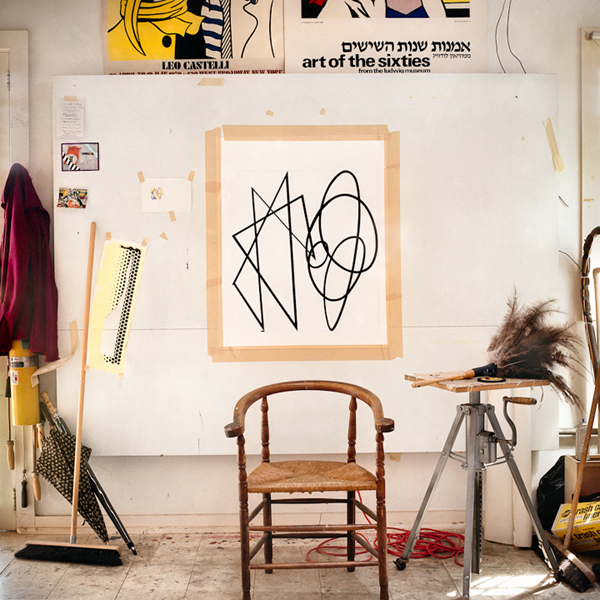 Abstract Drawing with Chair, 1991