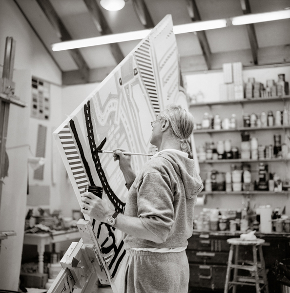Roy Painting, B&W , 1992