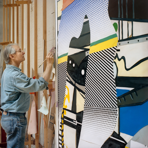 Roy Painting Picasso, 1990