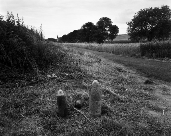 Shells by field near Baumont-Hamel, France, 2007