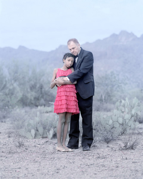 Victoria Zebb, 12 years & Paul Zebb. Tucson, Arizona.