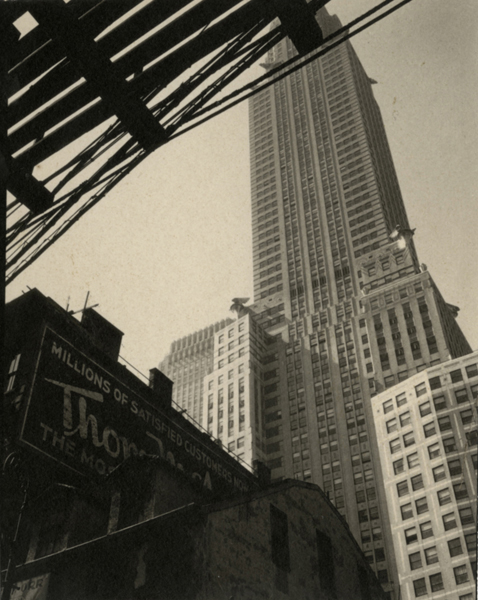 A Century of Architecture at 3rd and 43rd (Looking Up to the Chrysler Building), ca. 1930