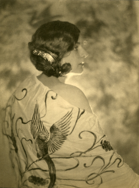 Untitled (Portrait of a Woman with Bird Drapery), 1920s