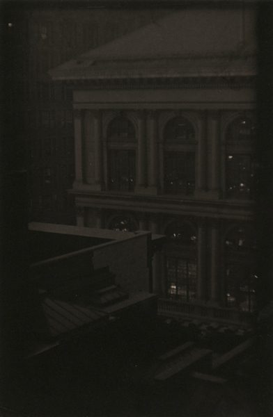 Corner View of a Classical Building, New York, ca. 1923