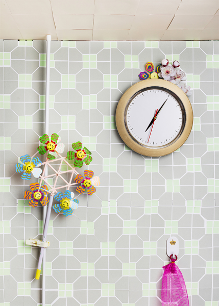 Clock with Flowers, 2016