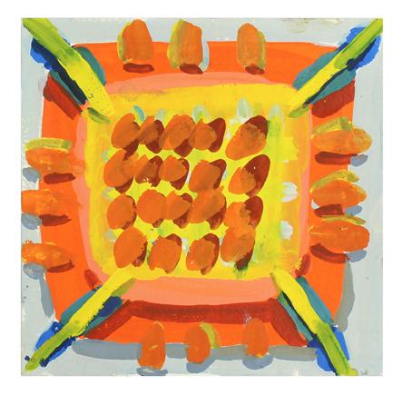 Orange Grate, 2017