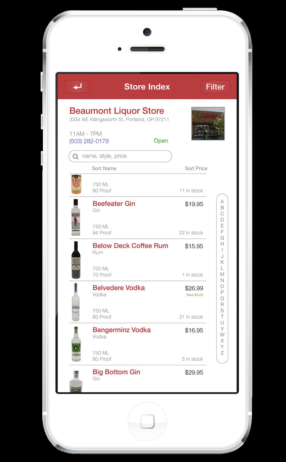 Store Index