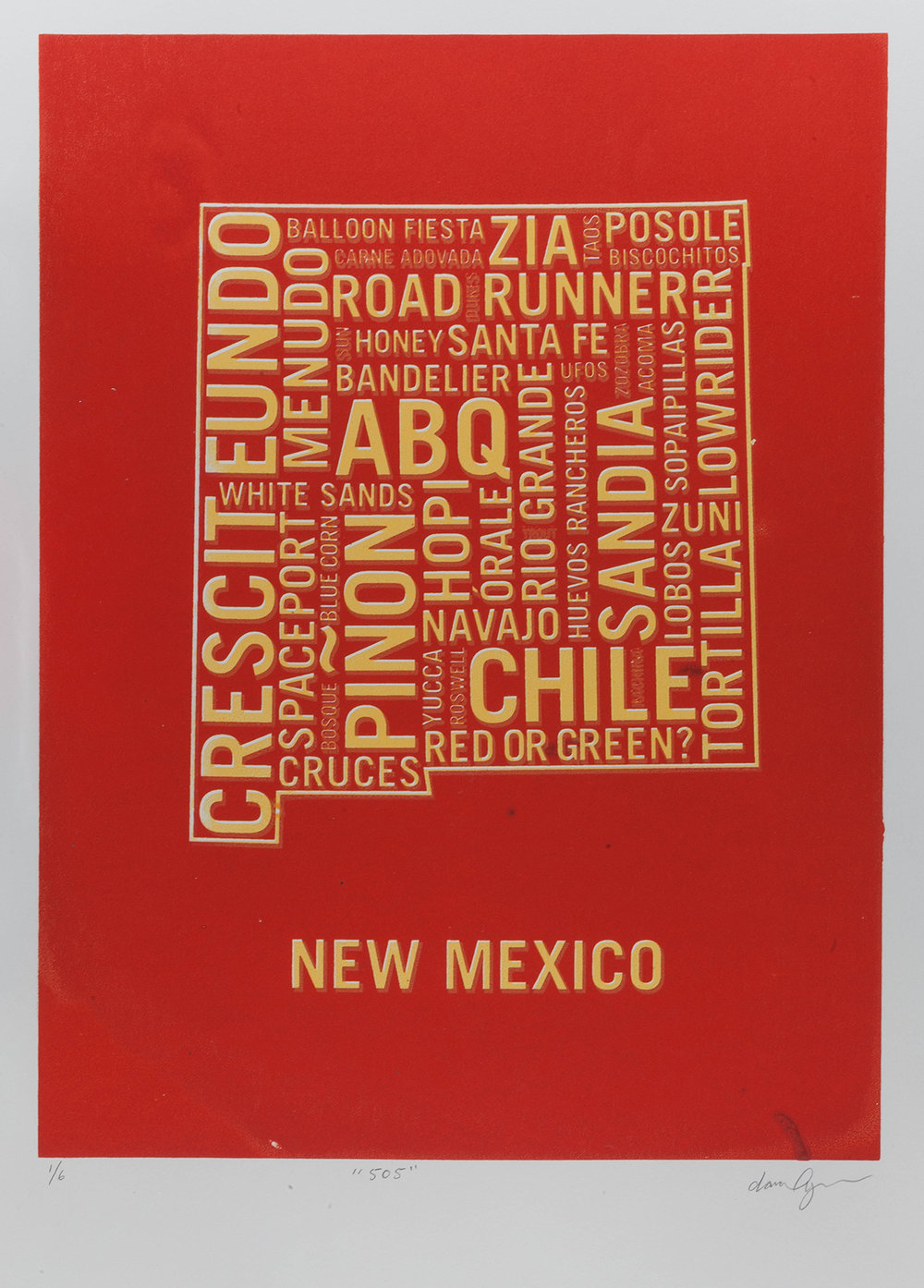 New Mexico Red Dan Yaker Screen Print.jpg