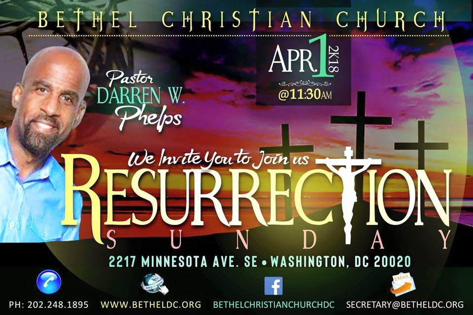 April 1 - We invite you to join us for Resurrection Sunday.