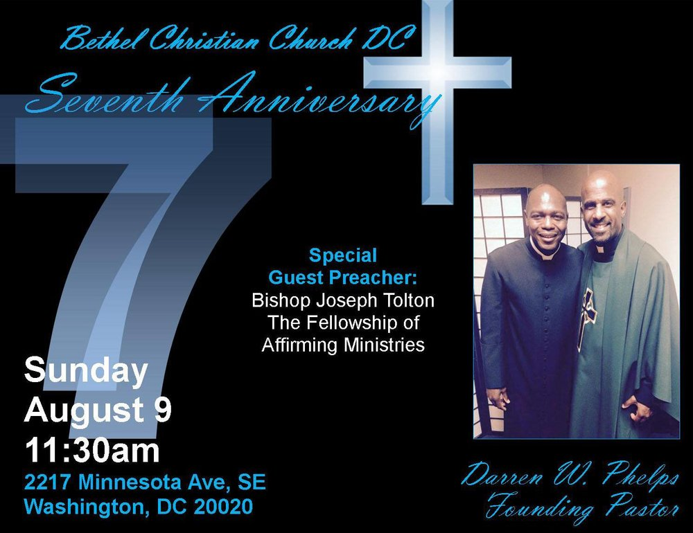 August 9, 2015 - 7th Church Anniversary.  Bishop Joseph Tolton preaching.