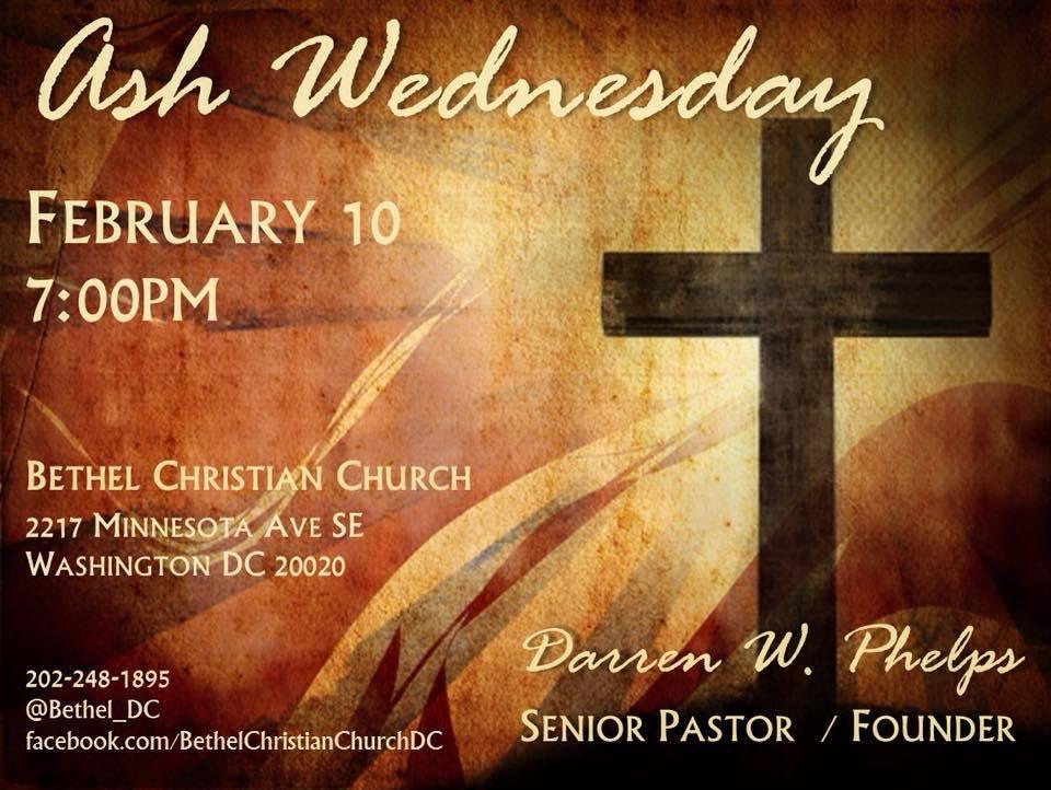 February 10, 2018 - Ash Wednesday