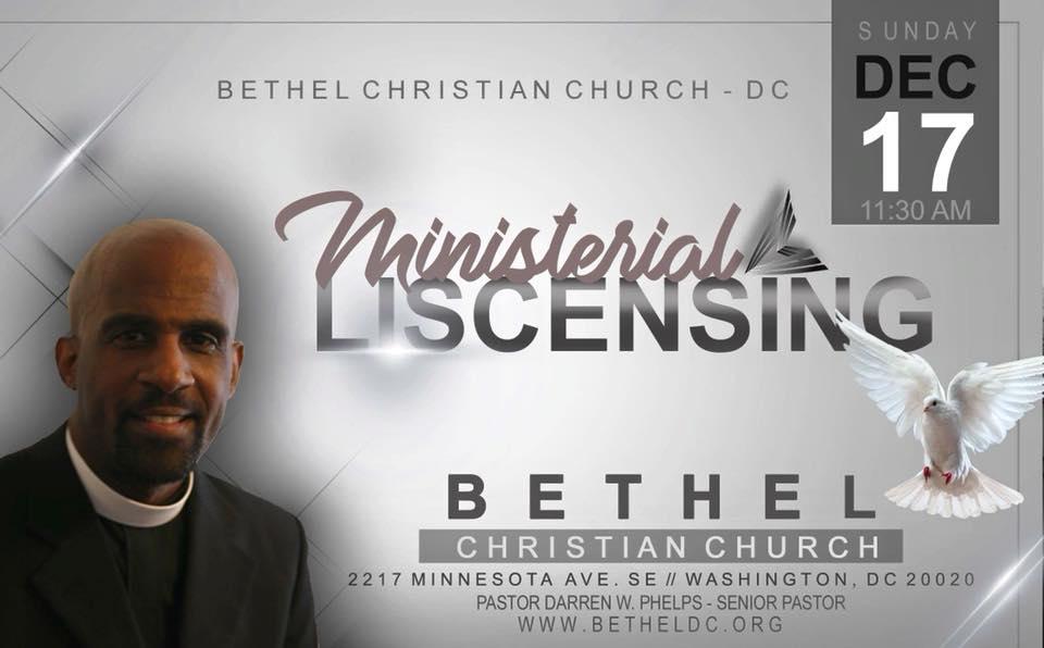 December 17, 2017 - Ministerial Licensing