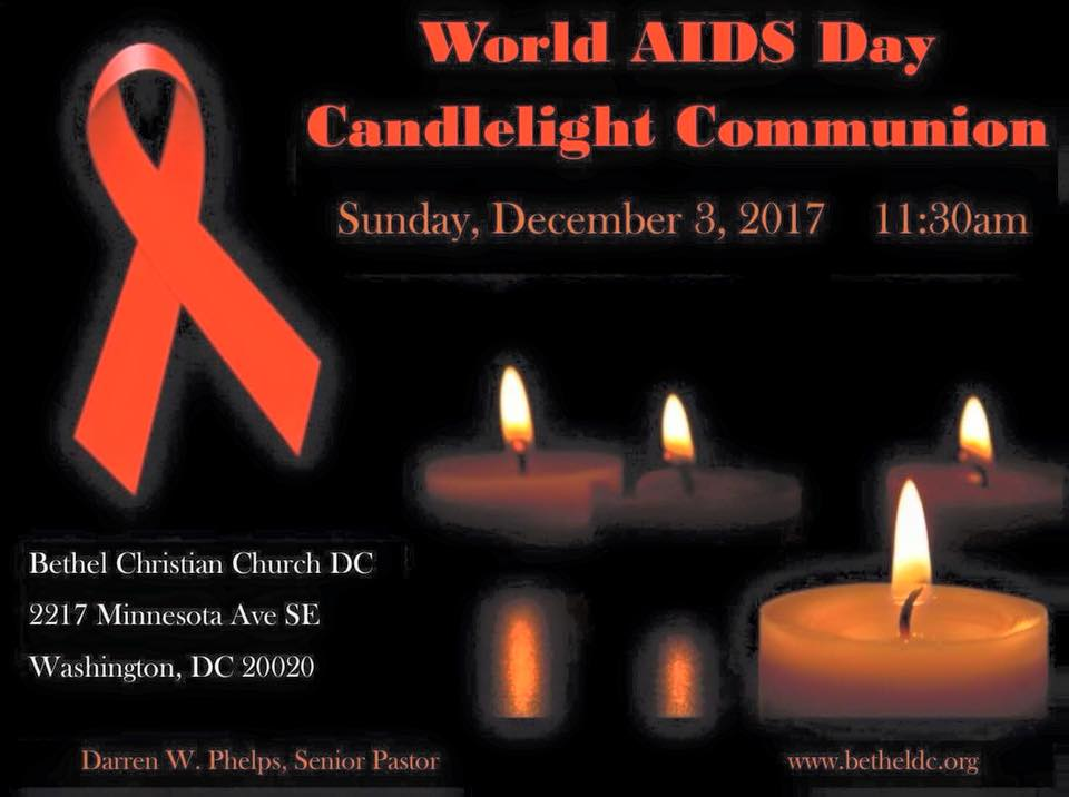 December 3, 2017 - World AIDS Day Candelight Communion