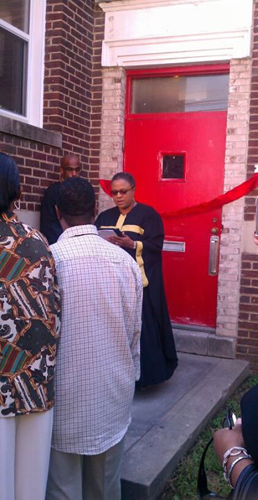 Bishop Yvette Flunder blessing 2217 Minnesota Ave SE DC as our church building