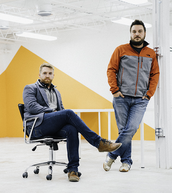 Brian Watson (left) and Josh Hudnall (right) of LAUNCH West Co (photo courtesy of ColoradoBiz Magazine)