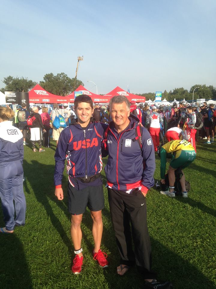 Phil and Me before Sprint Worlds in Edmonton.