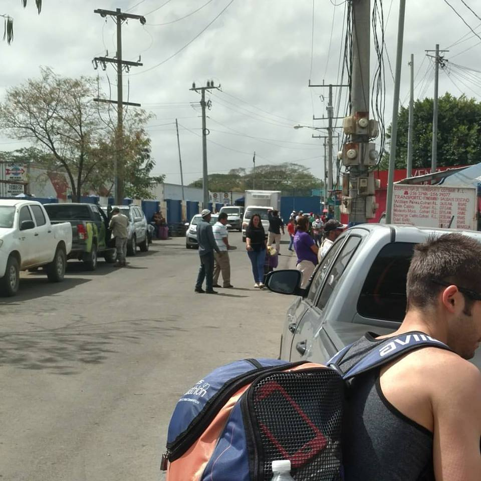 Getting our bikes out of the truck to walk to the border wall between Nicaragua and Costa Rica.