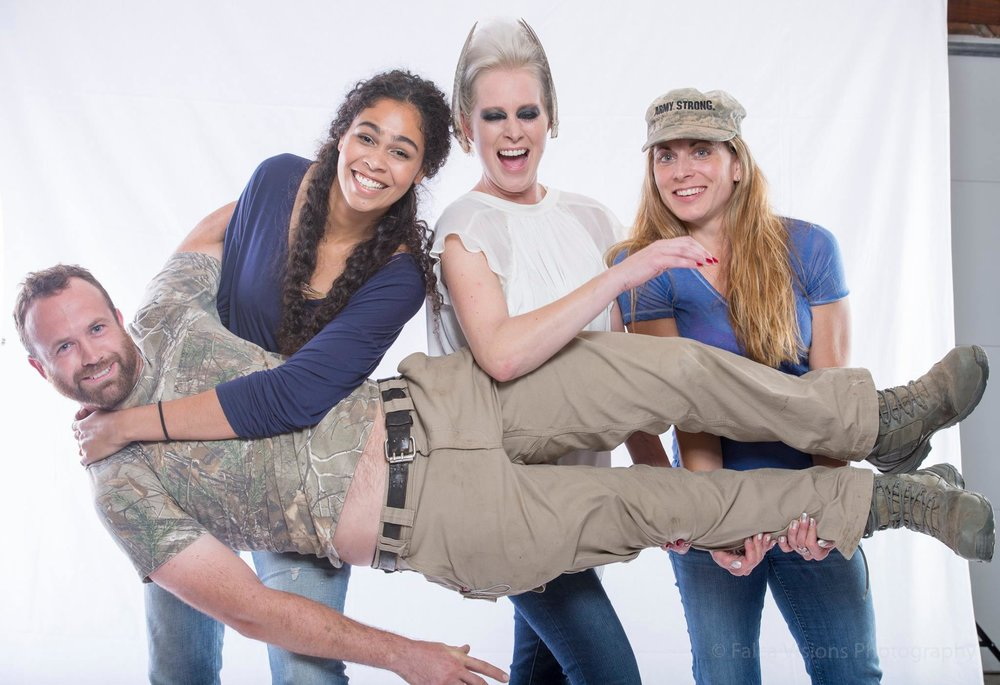 Our Workshops are a lot of Fun! Here my Creative Team having a blast with Scott, one of our Male Models