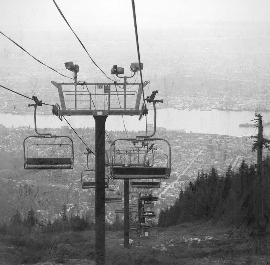 grouse mountain, cut chair
