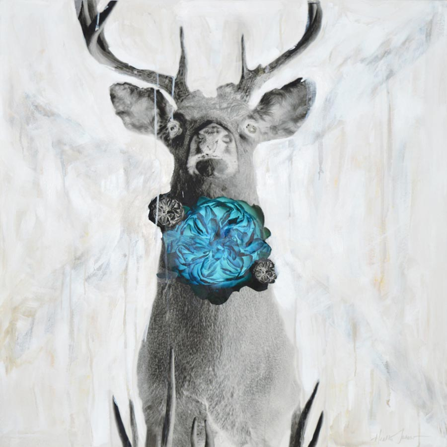 "stag, crossed - 36"" x 36"""